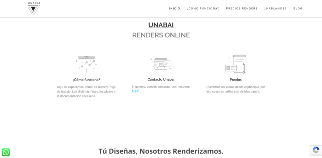 Captura web Unabai